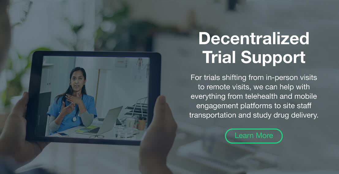 Decentralized Trial Support