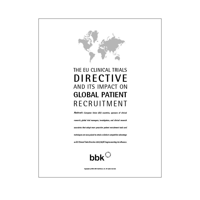 EU Directive Impact on Global Patient Recruitment